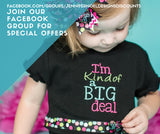Birthday shirt for girls, newborn take home outfit, or new big sister shirt gift - Jennifer Noel Designs
