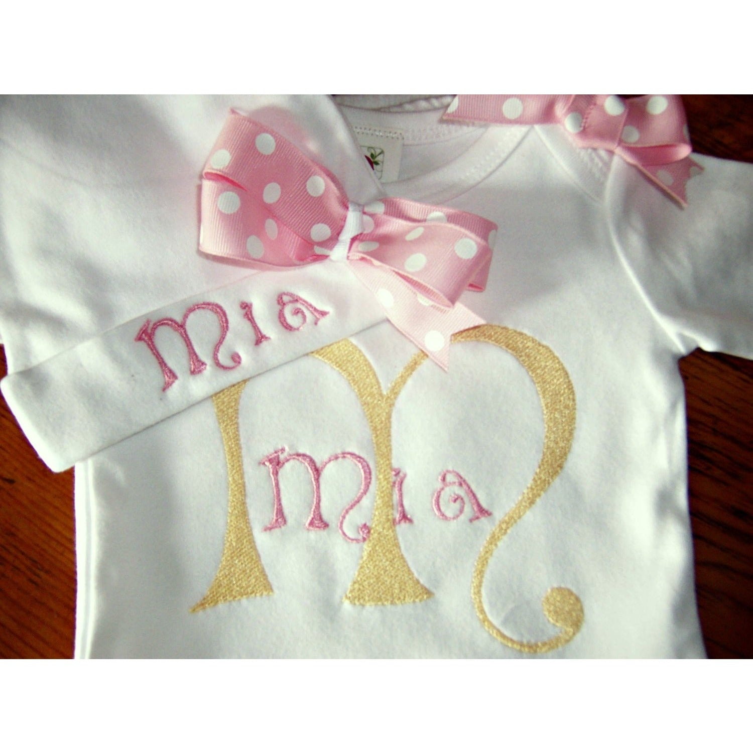 5e1aee7e36638 Newborn girl take home outfit, Personalized baby girl coming home Oufit,  baby layette gown