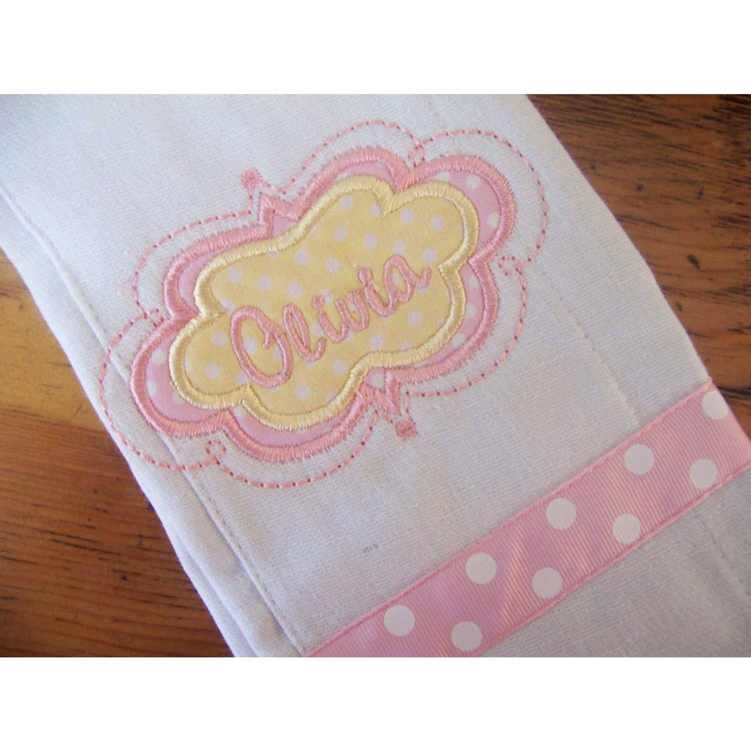 Personalized Monogrammed Burp Cloth, Personalized Burp Cloth - Jennifer Noel Designs