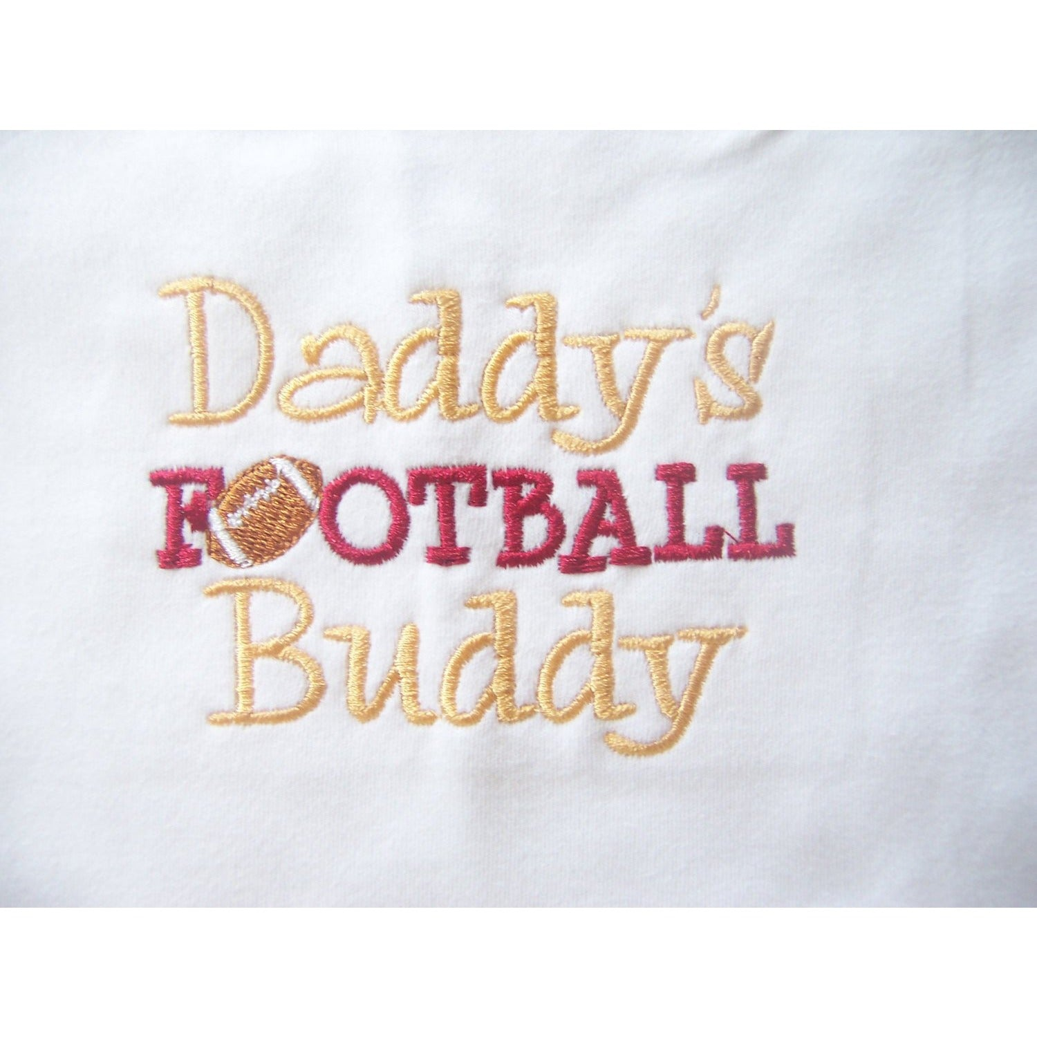 Personalized Monogrammed Children's Clothing, Footbal, Daddy's Football Buddy Shirt - Jennifer Noel Designs