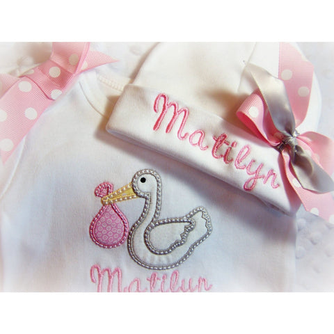 Jennifer Noel Designs JenniferNoelDesigns.com Take Home Outfit Personalized Layette Personalized Girls Newborn Layette monogrammed baby infant gown fall Girls Monogrammed Girls Coming Home embroidered babyones embroidered baby gif Coming Home Outfit Clothing Children baby gown winter baby girls layette Baby