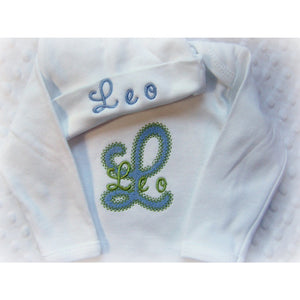 Personalized Coming Home Outfit for Boys - Jennifer Noel Designs