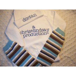 81a575f2 Personalized Coming Take Home Boys or Girls Layette Gown, or one piece and Hat  Set