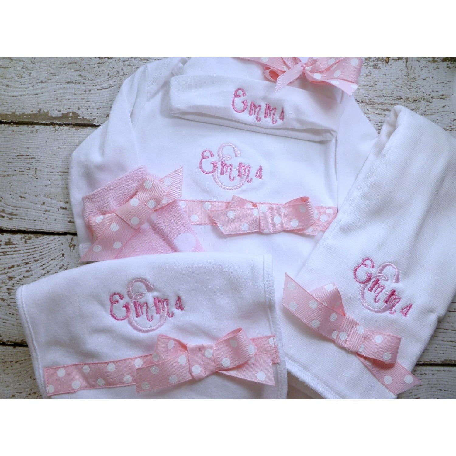 Personalized Baby Girls Coming Home Outfit - Jennifer Noel Designs