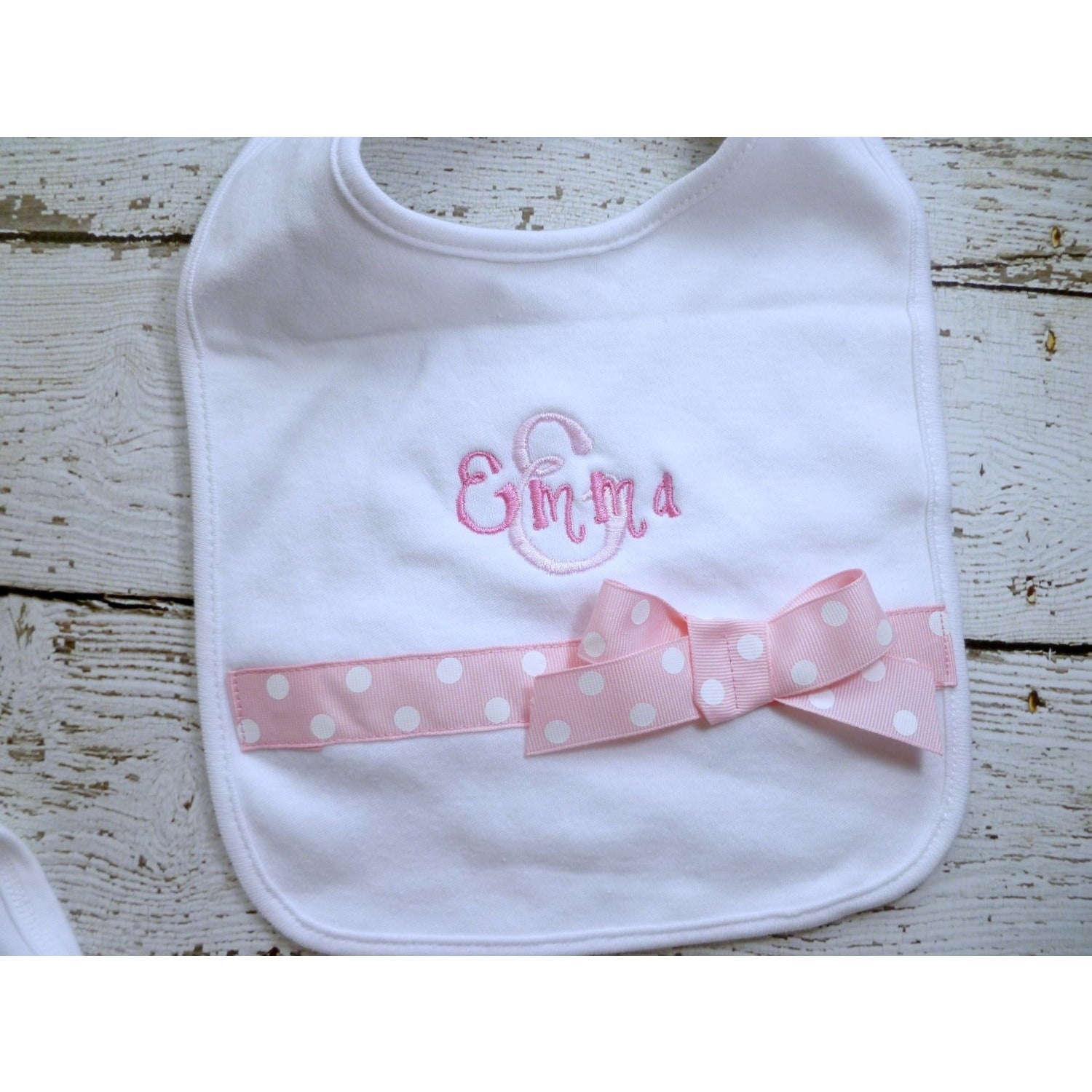 Personalized Baby Girl Bib - Jennifer Noel Designs