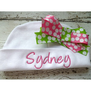 Personalized Newborn Take home Outfit for Girls - Jennifer Noel Designs