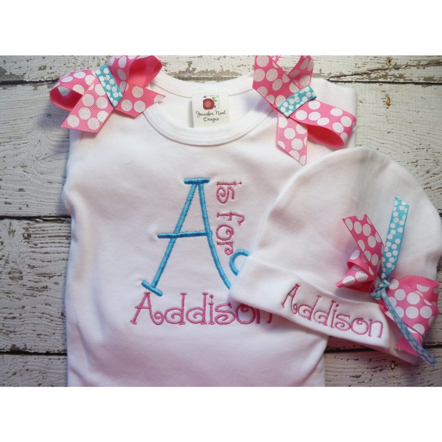 monogrammed Newborn Girl Set - Jennifer Noel Designs