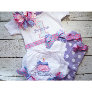 First Birthday Set - Lavender & Pink - Jennifer Noel Designs