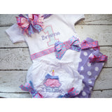 Jennifer Noel Designs JenniferNoelDesigns.com Take Home Outfit pink lavender i'm one girls first birthday girls birthday first birthday shirt cupcake birthday Clothing Children cake smash set birthday bloomers baby bloomers Baby 1st birthday shirt 1st birthday outfit 1st birthday girl 1 year old
