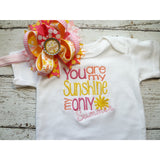 Jennifer Noel Designs JenniferNoelDesigns.com personalized girls You are My Sunshine take home outfit personalized baby onepiece bodysuit newborn girl monogrammed baby little sister outfit girl take home coming home outfit Clothing Children baby name gown baby layette gown baby girls layette baby gifts Baby