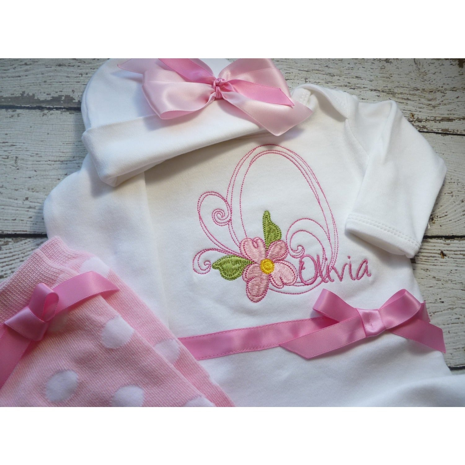 Personalized baby girl coming home Outfit – Jennifer Noel Designs