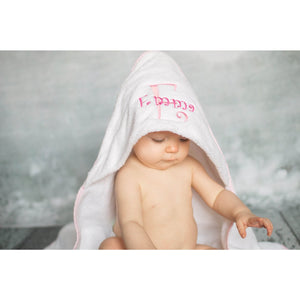 Personalized Infant Hooded Towel and Mitt Set, newborn gift, Baby Bath Towel - Jennifer Noel Designs