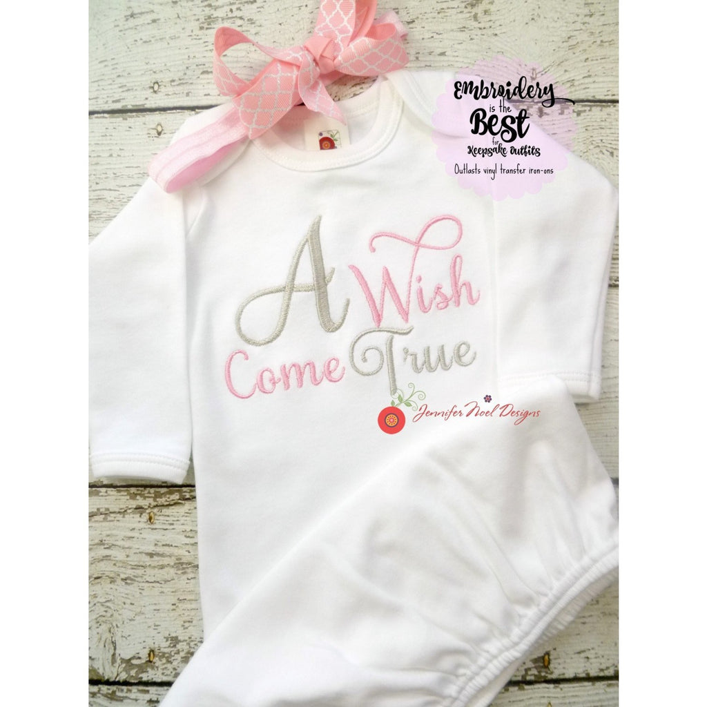 personalized baby girl coming home outfit - Jennifer Noel Designs
