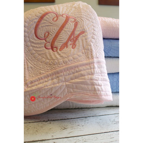 Jennifer Noel Designs JenniferNoelDesigns.com Children shower gift pink baby quilt personalized baby newborn photo prop new baby gift monogrammed quilt monogrammed baby Housewares crib quilt christening gift blue baby quilt Bedroom Bedding baptism gift baby quilt baby blanket