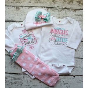 Worth the Wait, Baby Girl Bodysuit | Coming Home Outfit | Baby Shower Gift - Jennifer Noel Designs