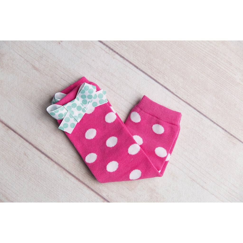 Hot Pink Infant Toddler Legwarmers - Jennifer Noel Designs