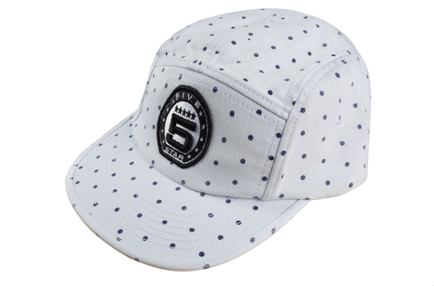 Blue Dot 5 Panel Hat