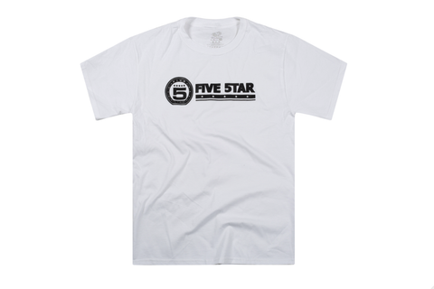 White 5star White And Black Skateboarding Shirt
