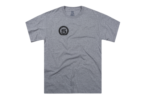 5star Heather Grey Skateboarding Shirt