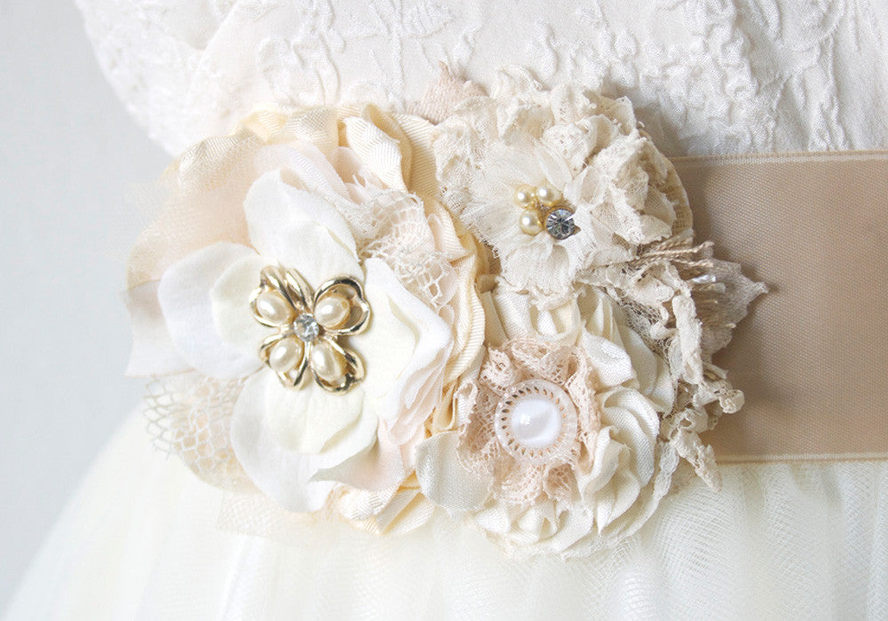 vintage butterfly sash