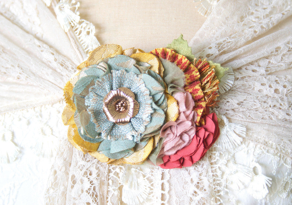 colorful corsage brooch