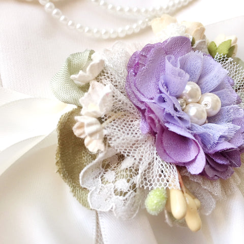 Bridal Belt Purple Flower