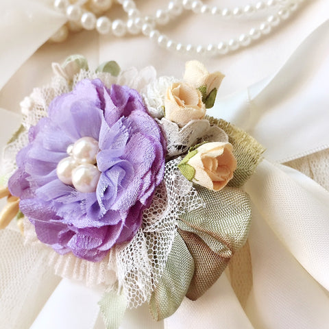 Wedding Belt Purple Flower
