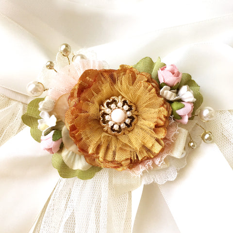 Golden Yellow Flower Sash