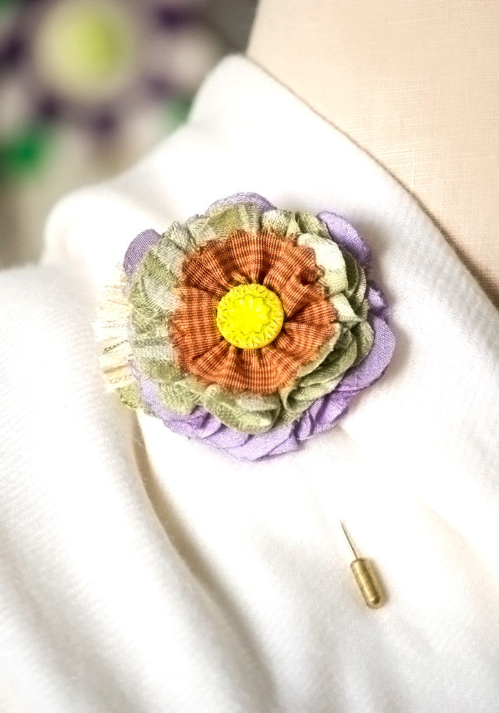 floral stick pin boutonniere