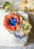 Colorful floral bridal belt