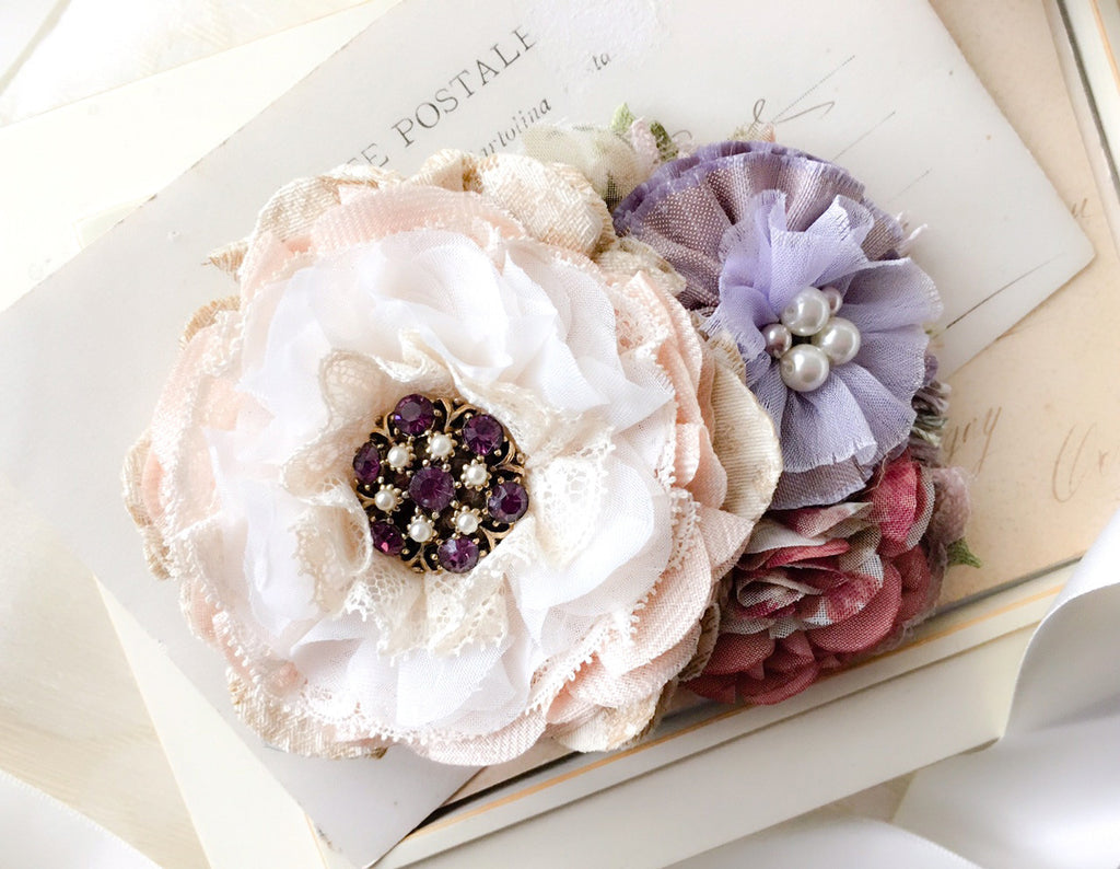 Lavender Rose Bridal Sash