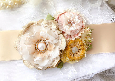 Country Garden Floral Bridal Belt