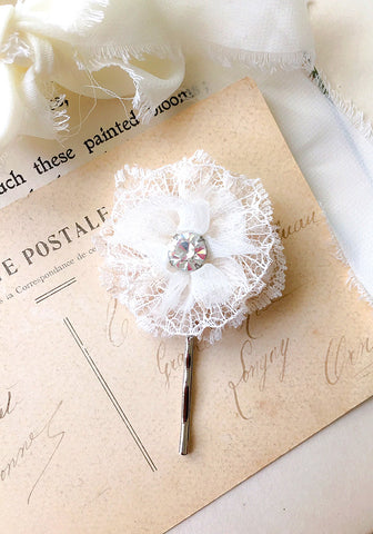 lace floral hair pin