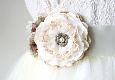 vintage wedding sash
