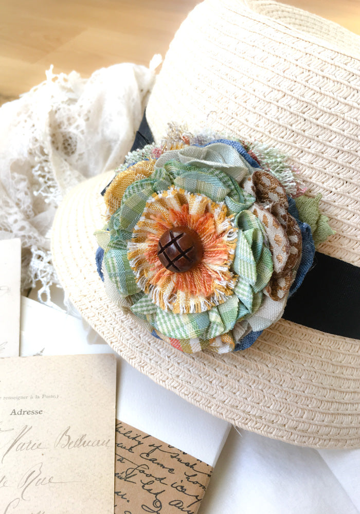 floral hat pin
