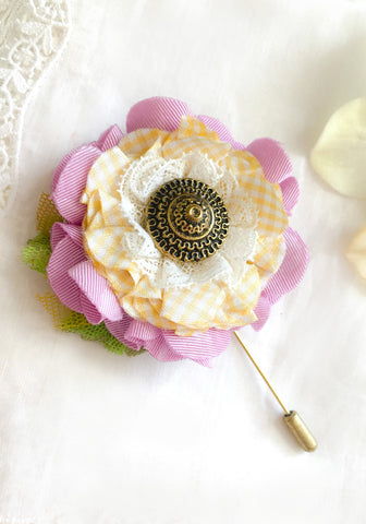 floral stick pin