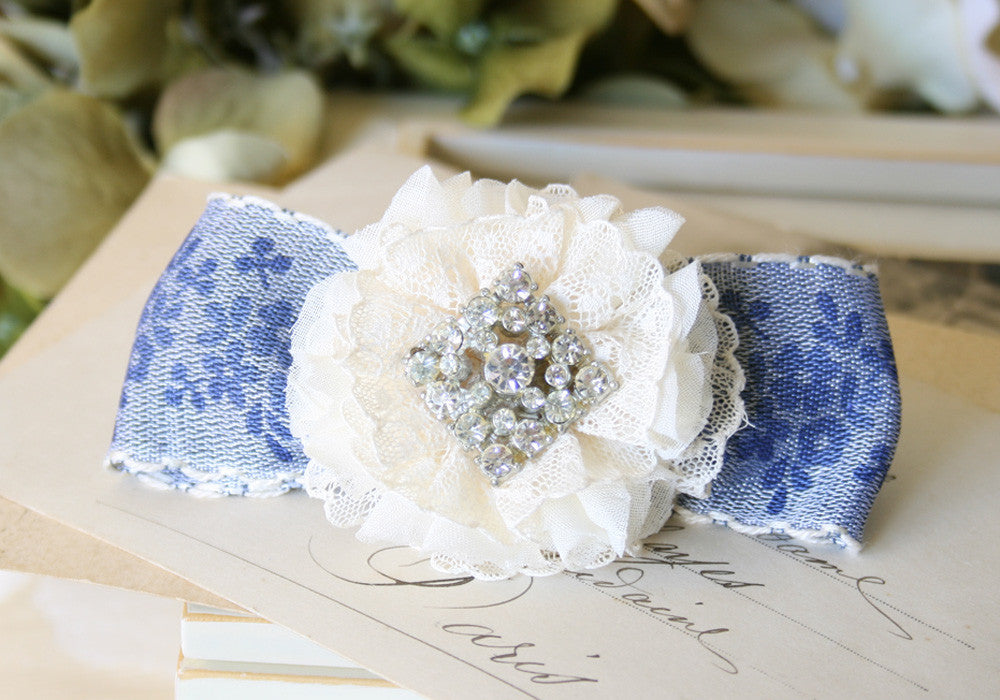 rhinestone bridal barrette hairpiece