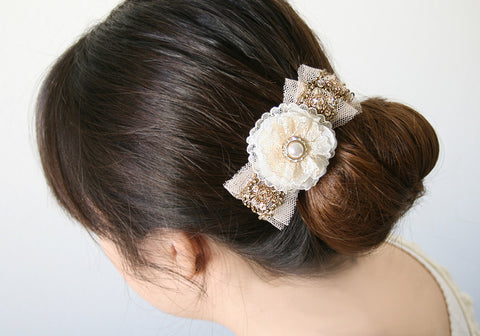 Sequined Floral Hair Barrette
