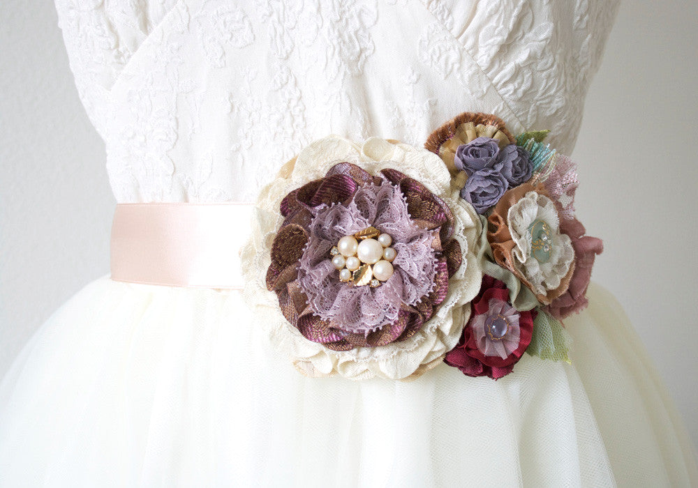 purple bridal sash