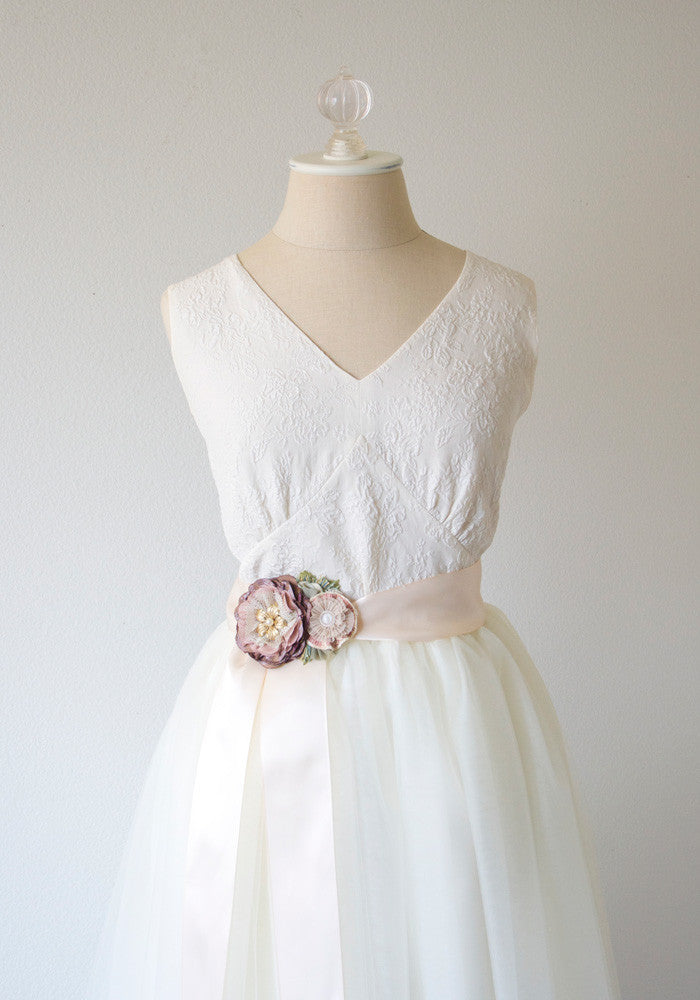 Floral Wedding Gown Belt | Rosy Posy Designs