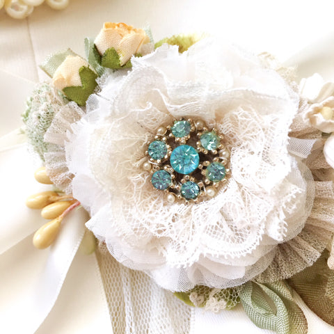 turquoise wedding brooch