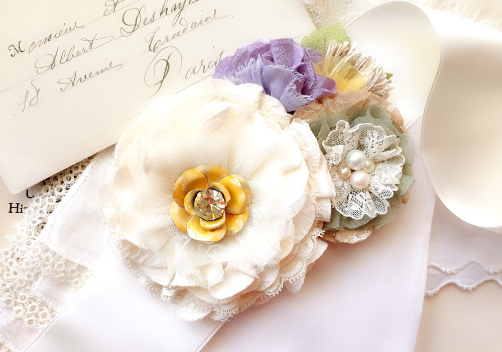 lavender and yellow sash flower