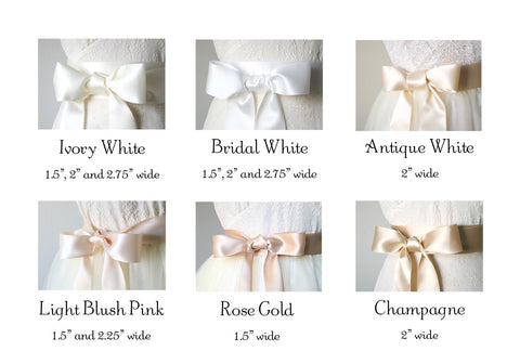 satin ribbon sashes