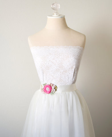 hot pink bridal belt