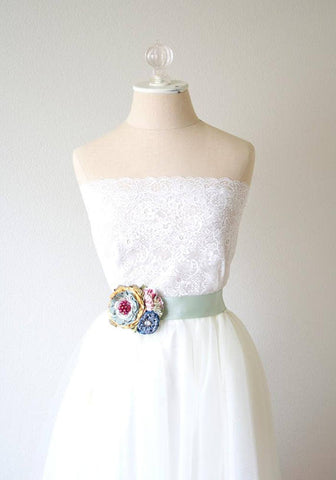Colorful Flower Corsage on dress