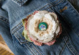 Colorful Button Flower Brooch