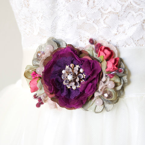 bridal belt purple