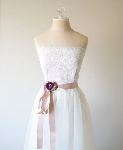 purple flower belt