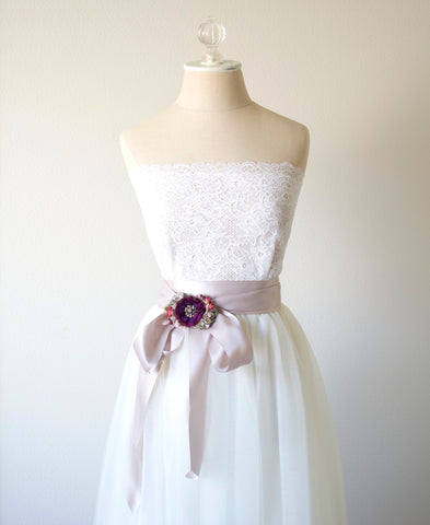 dress sash purple