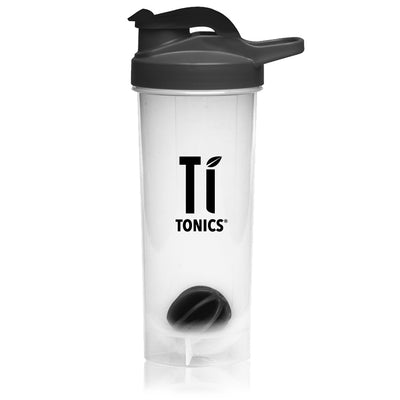 Ti Tonics Black Shaker Bottle 24oz
